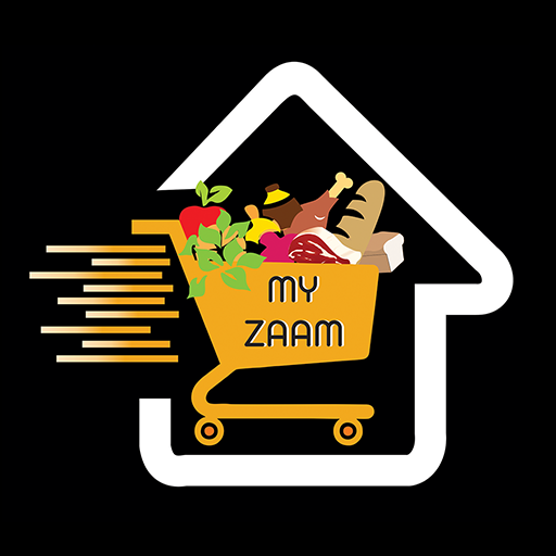 Myzaam app logo it is the food and grosary shopping app for you!