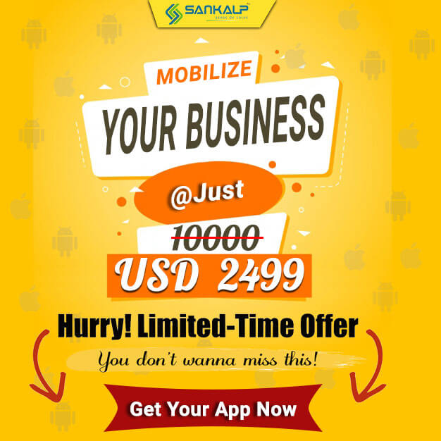 starting mobile app development cost at USD 2499